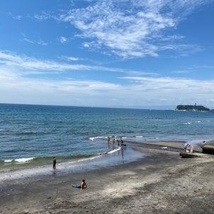 七里ヶ浜の海の画像