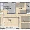 【2階間取り】超しょぼい極貧な2階空間