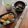 青梅醤油ご飯弁当とヒレカツ丼の画像