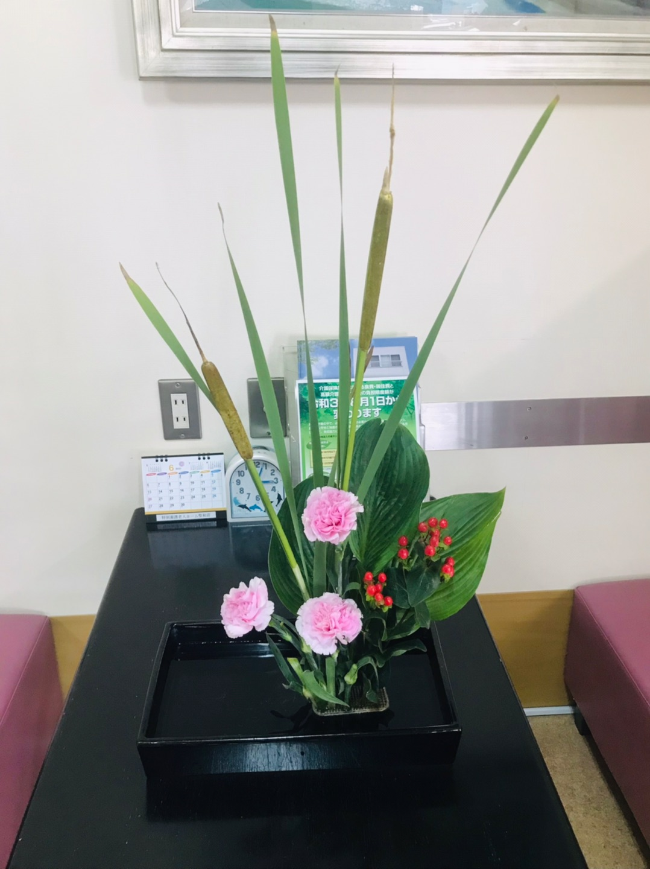 聖和荘 6月の生け花