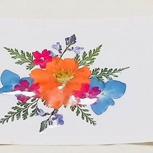押し花セラピ―  セラピー例「明るく元気に」の画像