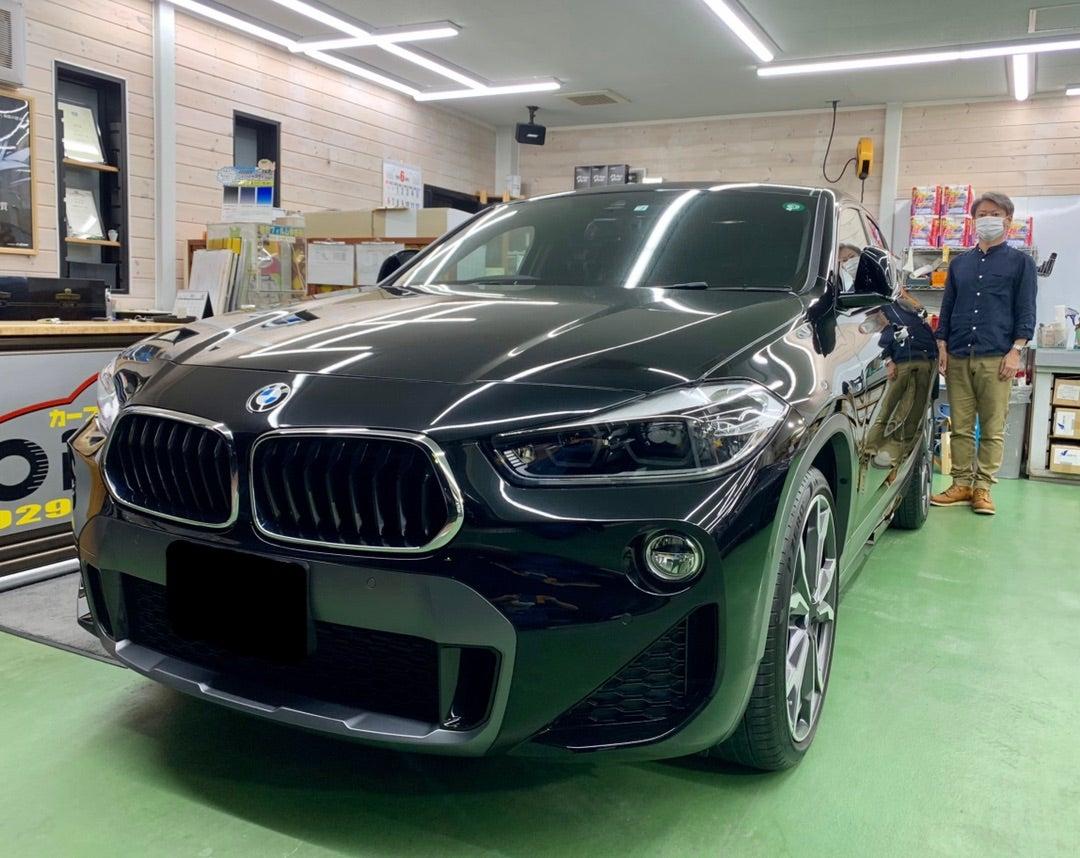 BMW X2 ハイモースコート ザ・グロウ施工