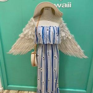 ハイビスカスが素敵なモアナドレス♡の画像