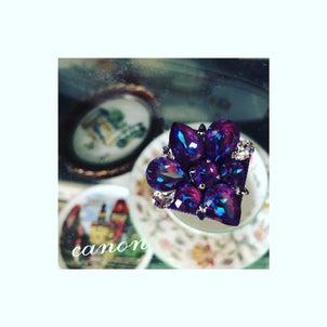 紫陽花カラーのCanonブローチ〜グルーデコ®️の画像