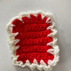 編み物はじめてのコースター!の画像