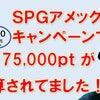 SPGアメックスカードキャンペーンで紹介した奥様も早々と75,000pt以上獲得!の画像