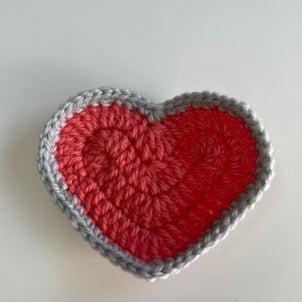 ハートのモチーフの編み方をインスタライブ!の画像