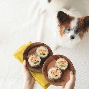 海苔なし◎フライパンで作れる、犬の肉巻き寿司(手作り犬ごはんレシピ)の画像