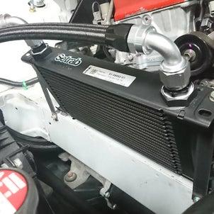 S2000,F20C改F24R制作車両ミッドマウントオイルクーラー取付、マフラー制作。の画像