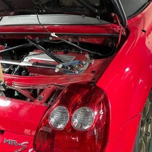 MR-S,K20A換装車両、効率的なオイルクーラー設置、PP1フルコン制作,F22Rポート加工の画像