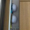 玄関の空きスペースにヘルメット!の画像
