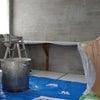 レンガ壁をモルタル造形で制作の画像