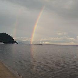画像 7月18日(日) 朝、虹が見えました。 の記事より