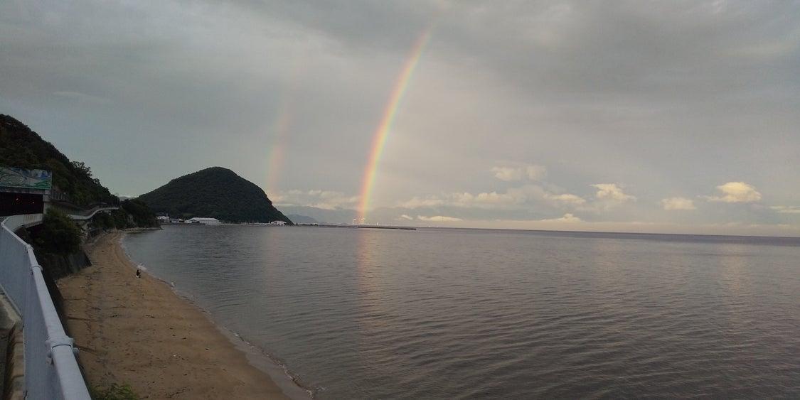 7月18日(日) 朝、虹が見えました。の記事より