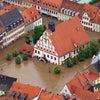 混沌としたヨーロッパの洪水の光景の画像