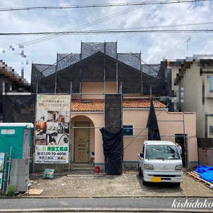 京都市北区プロヴァンスハウス 外観完成 京都の注文住宅 岸田工務店の画像
