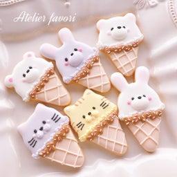 画像 ハンドメイドベーカリーニコリさん♡販売用クッキーアニマルアイス の記事より 3つ目