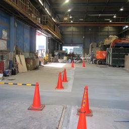 画像 本日、工場内コンクリート乾かし中のため荷受けできません。 の記事より