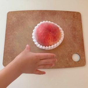 桃をキレイにツルンと剥く方法の画像
