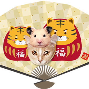 夏祭りのココちゃん 開運扇子の画像