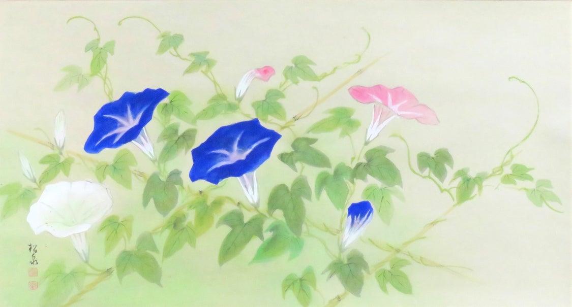 古忨堂 田中松泉作「朝顔」掛軸のご紹介の記事より