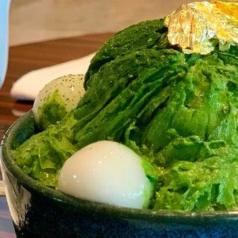 ひんやり‼️お抹茶とマンゴー