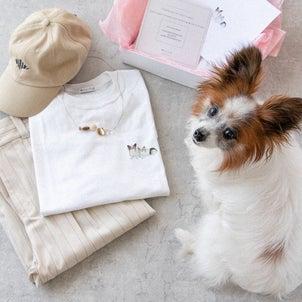 愛犬のイラストTシャツをオーダーメイドしてみました♡の画像