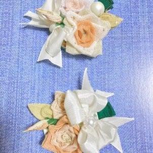 8月ワークショップ『草木染めガーゼで作るバラのつまみ細工』の画像