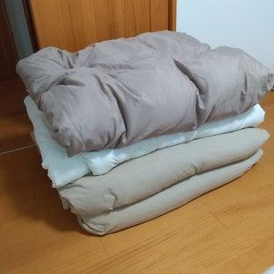 【IKEAのスクッブの代わりに…】冬布団をニトリの収納袋でコンパクト収納!の画像