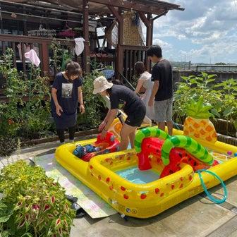 お庭プールは大成功!