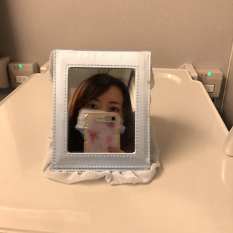 お肌の講座で広島へ☆とメイク時の鏡は大きい方が良い!話