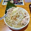 EBIKURA 2回目 EBIKURA流インスパイア 麺大盛野菜大盛ニンニクチャーシュー細切れ