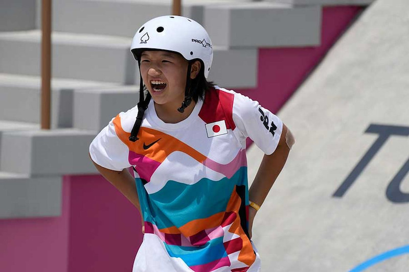 東京五輪で金メダルを獲得した西矢椛ちゃん