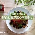 [さっぱり食べれる♪] 豚肉と夏野菜の南蛮酢♪