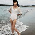 自宅で一人遊び(389) 21年7月(13) 海辺の白い水着を楽しむも、最後に悲劇が