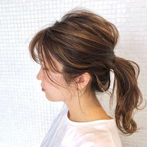 後れ毛で涼しげポニーアレンジ hair arrange & hair setの画像