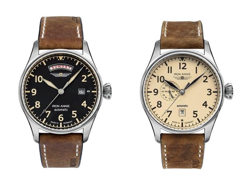 ドイツ腕時計ブランド「アイアンアニーのフライトコントロール」腕時計。