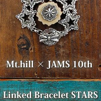 "「Mt.hill」×「JAMS 10th」Linked Bracelet ""Decagram"""