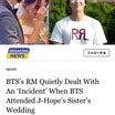 BTSのRMは、BTSがJ-Hopeの姉の結婚式に出席したときに「事件」に静かに対処