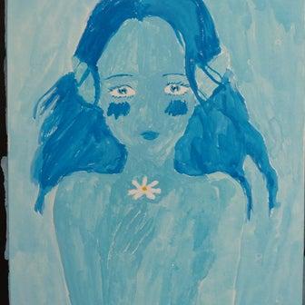 絵を描いています。(~_~)