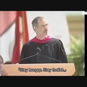 スティーブ・ジョブズの言葉:卒業式にての画像