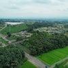 田園の光景をDRONEで空撮☆ 新緑の美しさに感動!の画像