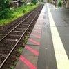 雨の日の通勤の画像