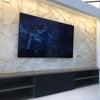 リビングでスッキリ、75インチ大画面ホームシアターが完成しました〜の画像