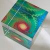 空間のエネルギーと環境を整えるガラスキューブの画像