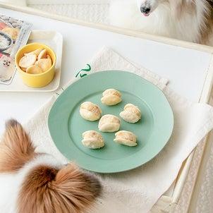 市販の犬おやつとウエットフードで作るマリトッツォ風アイスの画像