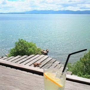 琵琶湖を眺める水辺のカフェ@滋賀 シャーレの画像