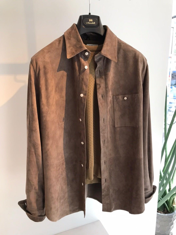 ミラノのレザーシャツ ENRICO MANDELLI