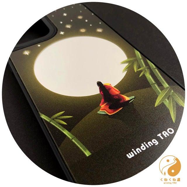 輝く満月のミラーiPhoneケースできました☆