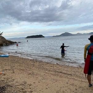 父と子の無人島キャンプ 2日目朝の画像
